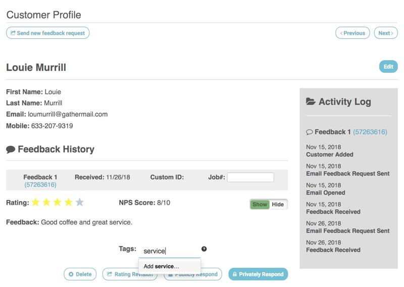 add tags customer profile service