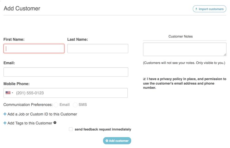 customer activity add customer