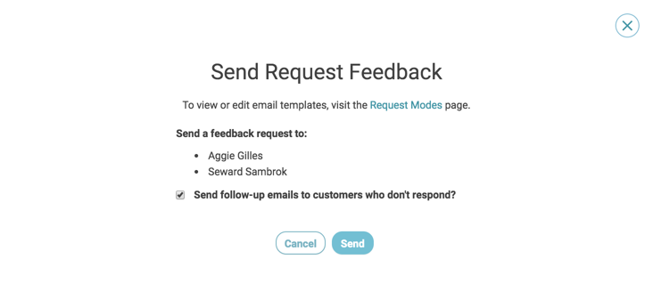 customer activity select customers send request