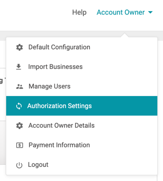 facebook authorization account owner dropdown