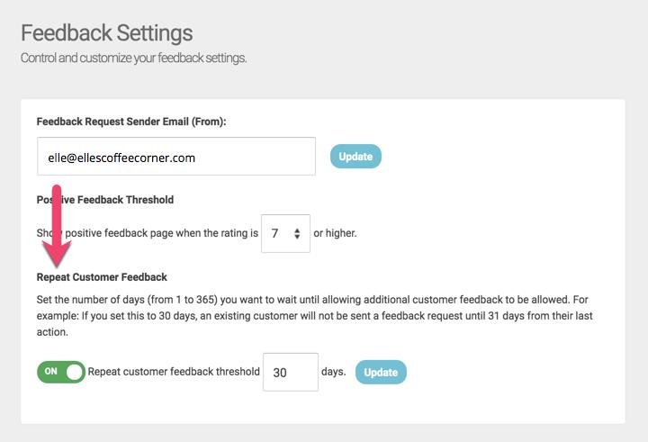 feedback settings repeat customer feedback 1