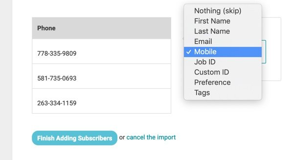 import customers multiple locations 3