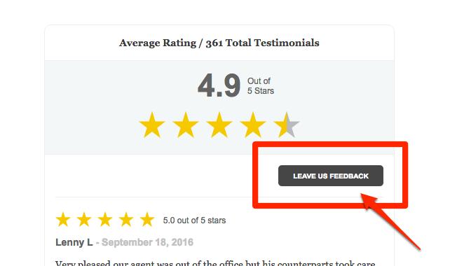 including feedback form on website 1