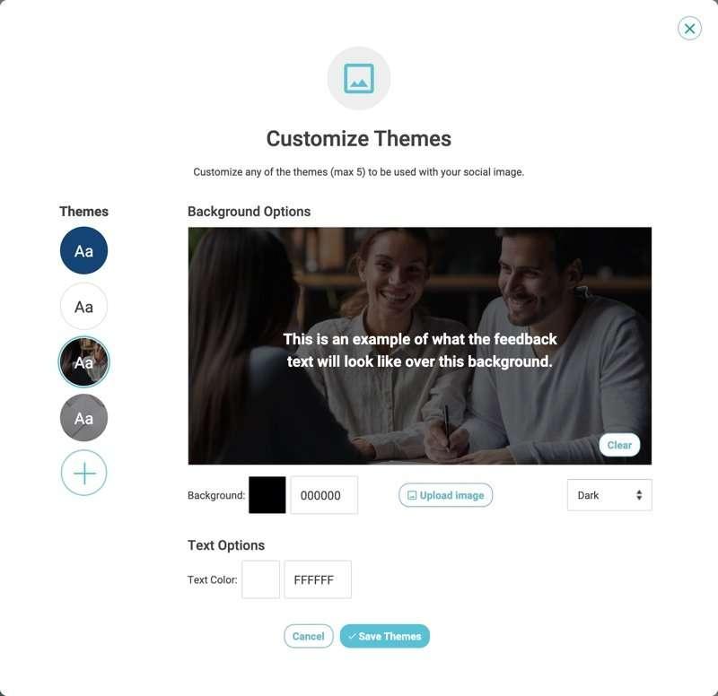 social sharing customize theme