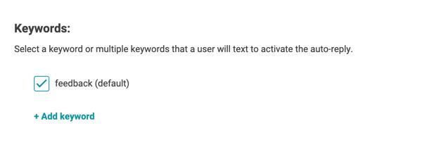 textback edit keyword