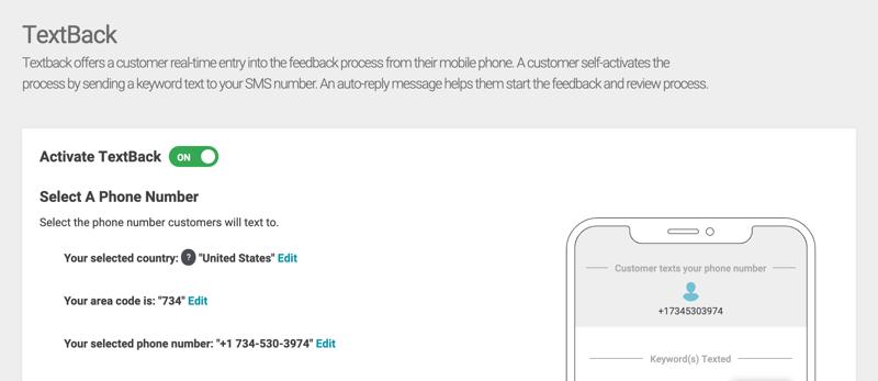 textback edit settings number