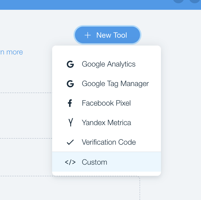 wix new tool custom