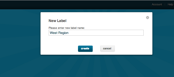create new label RocketReviews