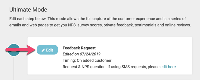 edit email request ultimate feedback request