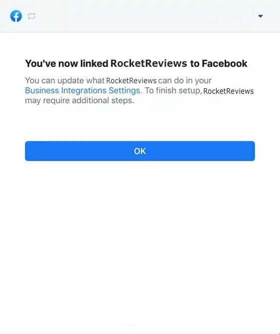 facebook authorization linked