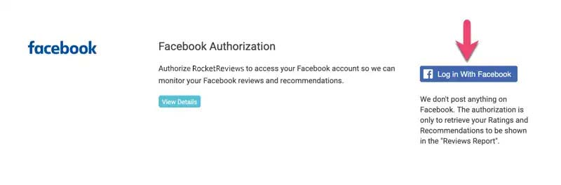 facebook authorization log in