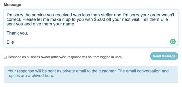 private reply