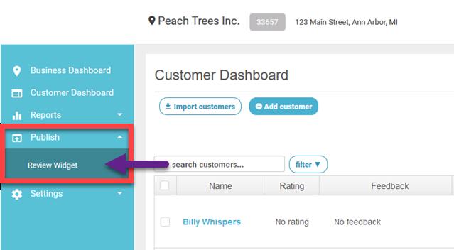 publish review widget