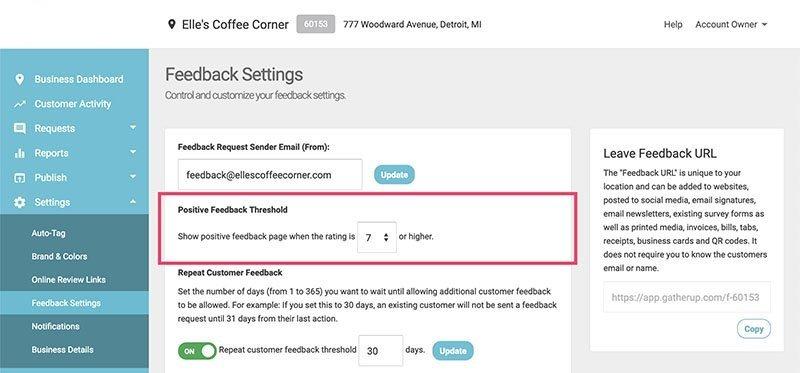 set positive feedback threshold 1