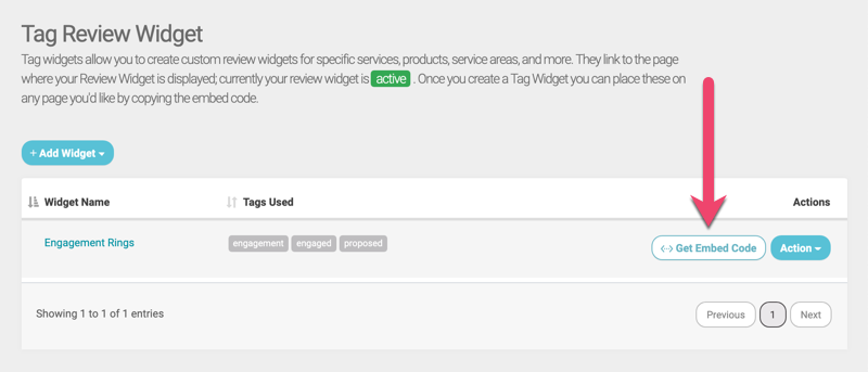 tag review widget embed code