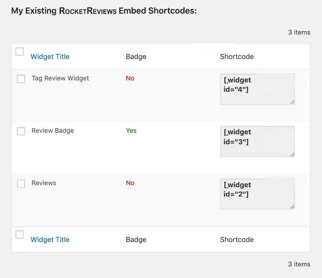tag review widget shortcode wordpress