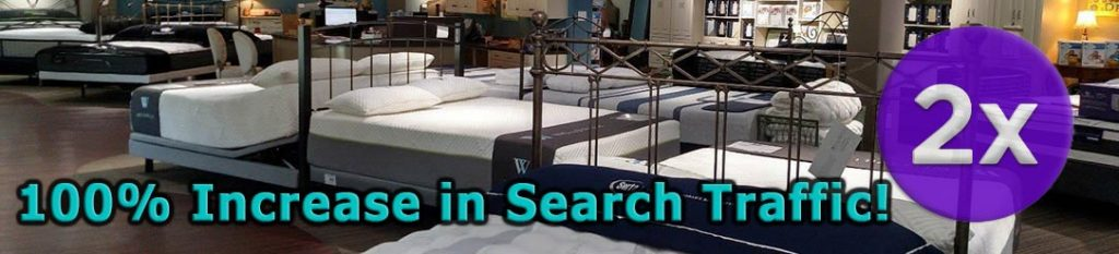 The Sleep Shop Case Study Increase Search Traffic