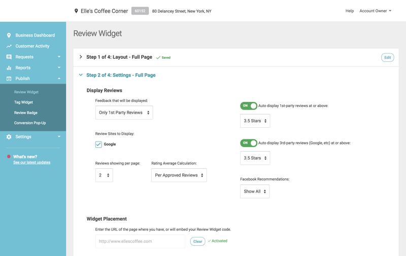 wix conversion pop up white label url in review widget