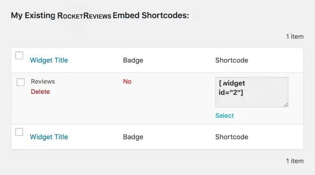 wordpress install review widget shortcode 1