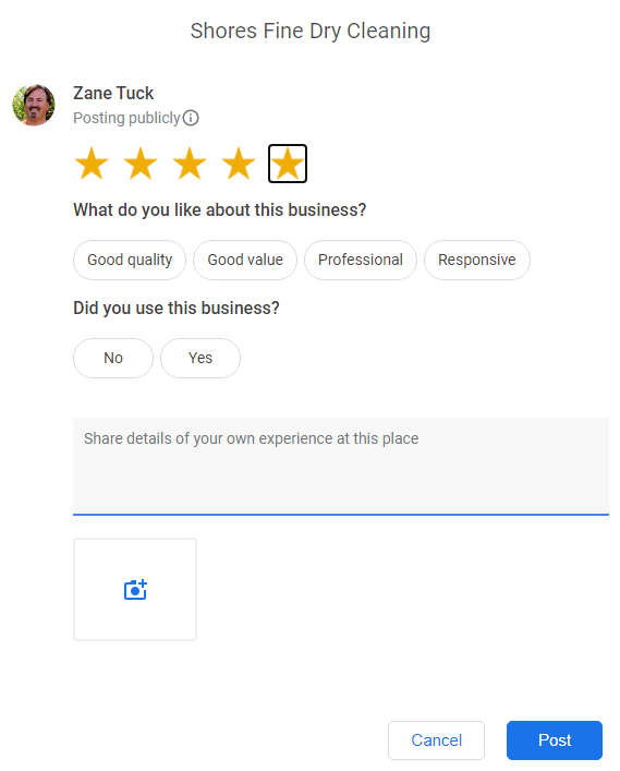 Google Review Attributes 5 stars