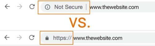not secure secure chrome