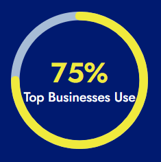 75% of Top Businesses Use Google Analytics