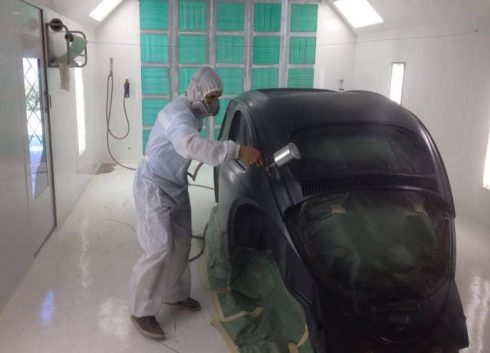 Automotive Paint Booth Spray Application